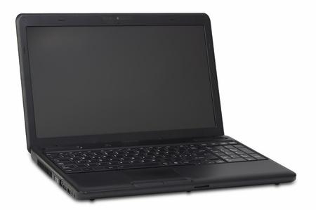 Black laptop open