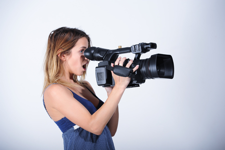 Videoreporter with camera