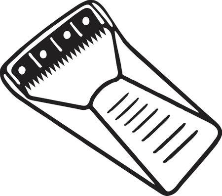 Disposable Skin Prep Blade drawing vector, woman shaving blade razor