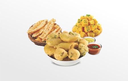 Maida by Besan Methi Gota (fenugreek) Pakoda, wada or Fritters, bhajiya, Sev Khaman, Dhokla, Fafda, Papdi, Gathiya