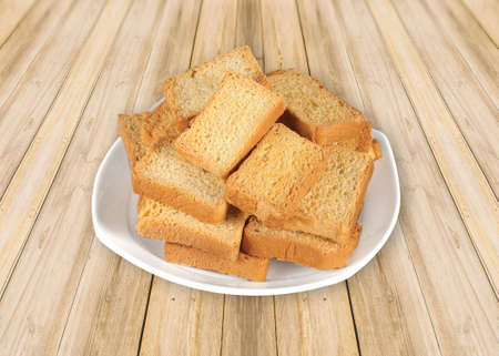 Crunchy Rusk or Toast for healthy life