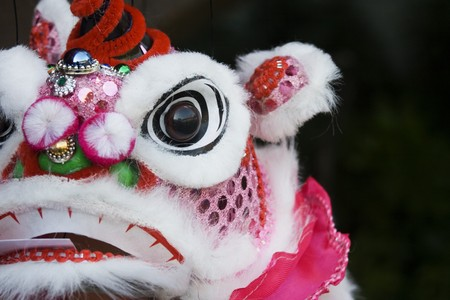 Puppet Dragon.  The face of a puppet dragon, Chinese style. Stock Photo - 4080430