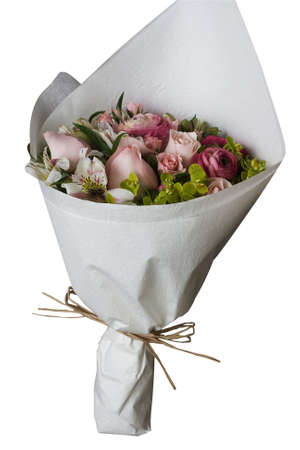 A bunch of flowers, isolated against a white background.  Standard-Bild