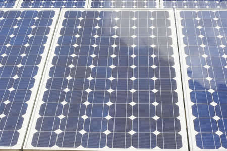 Close up of a solar panel. photo