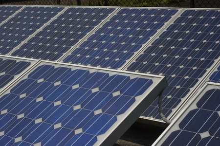 Cerca de un panel solar. Foto de archivo - 4754170