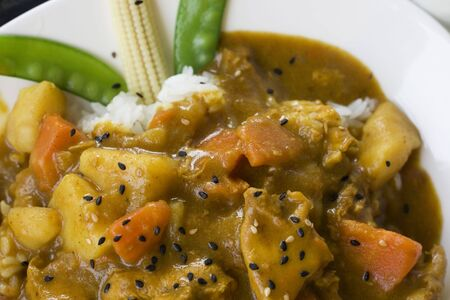 hugely: This is potato, carrot and beef Curry.  Curry is a major dish from Asia and hugely popular the world over.