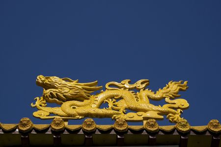 A close up of a temple dragon.  This is in the Chinese style and has much symbolism to the Chinese. Stock Photo - 8832363