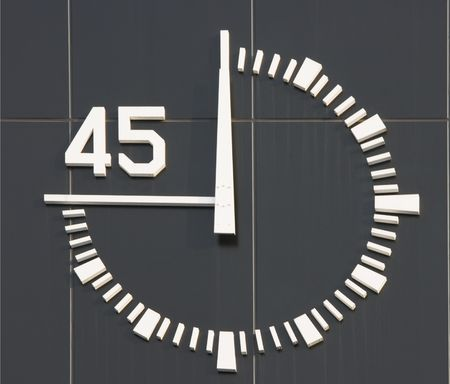 This is the type of clock that is found at a race track for athletes.