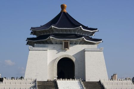 Chiang Kai Shek Memorial is an impressive building built for Chiang Kai Shek (Chek), the late dictator of Taiwan. The memorial is huge and in a traditional Chinese architectural style. It's one of the main tourist attractions in Taipei.
