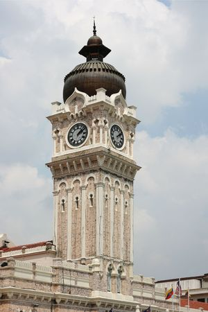 This is the clocktower on the Sultan Abdul Samad Building.  Its one of the top tourist attractions in Kuala Lumpur and a fine example of architecture