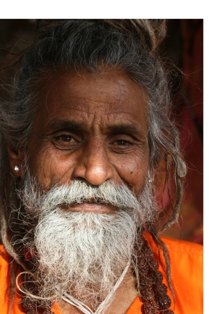 Pushkar, India, January, 22, 2008; This is a baba/Sadhu Stock Photo - 9880324