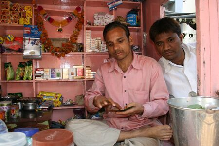 betelnut: 3rd Dec 2007, Ahmedabad, typical betelnut seller in small shop