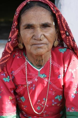 7th Dec 2007, Gujarat, A Harijan woman in the tribal part of Gujarat