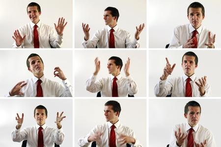 lenguaje corporal: Composición de un Gerente de explicar algo
