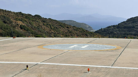 helipad: helipad - Lipsi Island - Greece