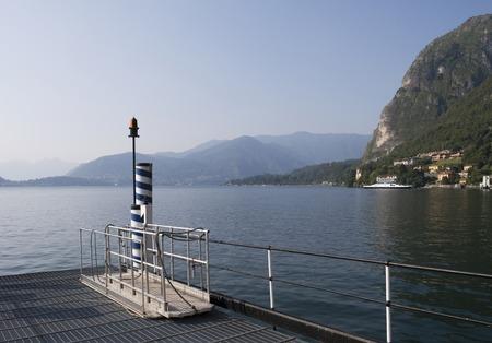 landing stage: Landing stage in Menaggio, Lake Como, Italy Stock Photo