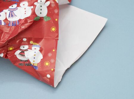 discarded: Discarded Christmas present paper