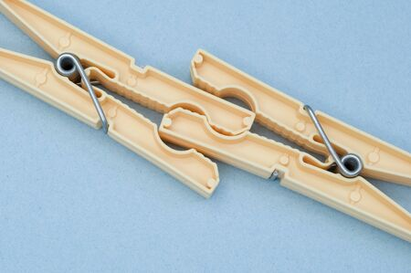 clothespins: Two clothespins