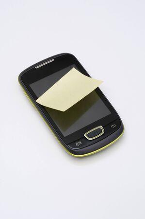 postit: A blank memo post it on smartphone