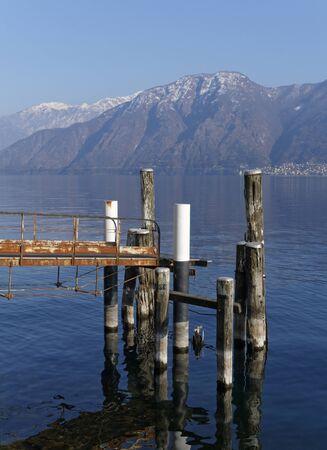 landing stage: landing stage, Lake Como, Italy