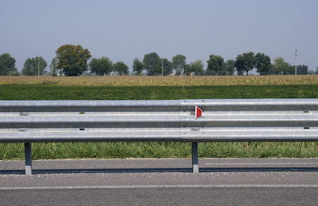 guard rail: guard rail along a country road in Italy