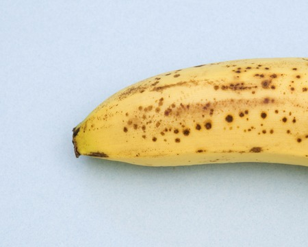 spotted: banana with spotted peel Stock Photo