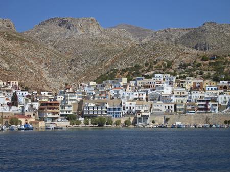 The harbor of Pothia in Kalymnos Island, Greece