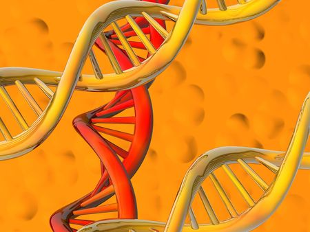 The image of molecules of DNA on an abstract background Stock Photo - 6676750