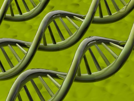 The image of molecules of DNA on an abstract background Stock Photo - 6709823