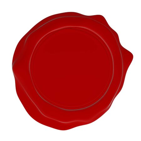 A red wax seal, cleanly rendered, ready for your customization Stock Photo - 6784952