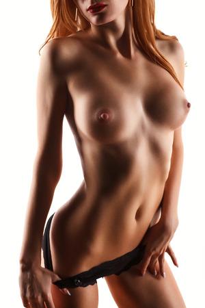 Обнаженная женщина ягодицы эротика. Голая сексуальное тело в черно-белом