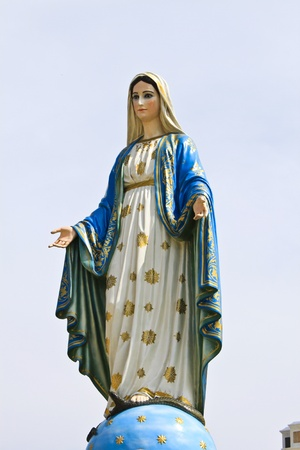Virgin mary statue at Chantaburi province, Thailand  photo