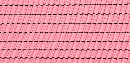 pink roof texture Stock Photo