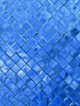 silver blue mosaic for background photo