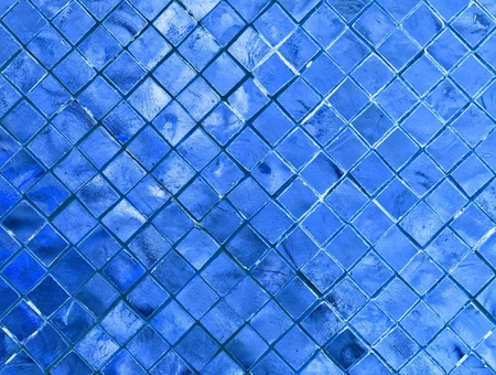 silver blue mosaic for background Stock Photo