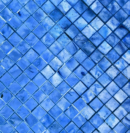 silver blue mosaic for background