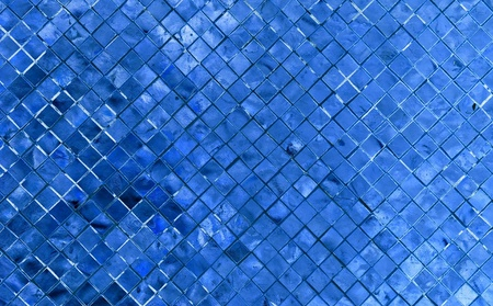 blue white kitchen: silver blue mosaic for background