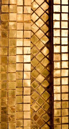 Gold tile background  Stock Photo