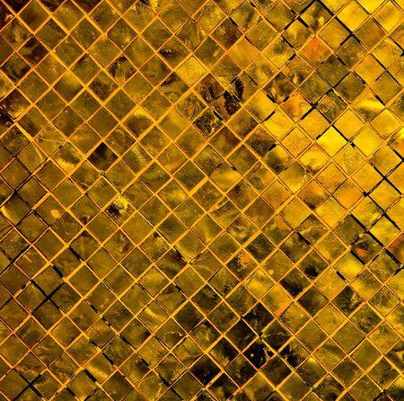 grunge golden mosaic, gold background. photo