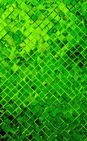 grunge green abstract background from tile mosaic