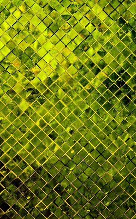 grunge green abstract background from tile mosaic photo