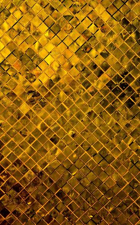 grunge gold abstract background from tile mosaic  Stock Photo