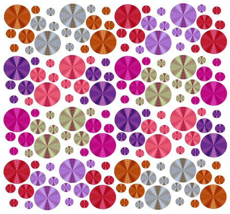 circle abstract striped decorative background, made of embroidery threads  Stock Photo