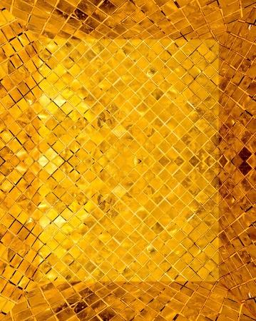 golden mosaic interior  Stock Photo