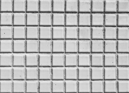 Seamless white square tiles texture