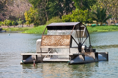 aerator: Chaipattana Low Speed Surface Aerator is Water mill to make the good environment