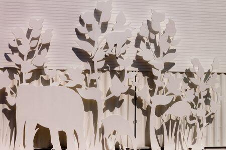 elephant and tree background  photo