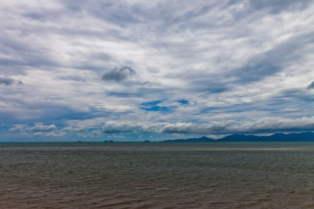 Thailand, Koh Samui  Samui Island , panoramic view of beach