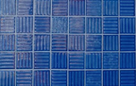 Blue tiles texture background Stock Photo