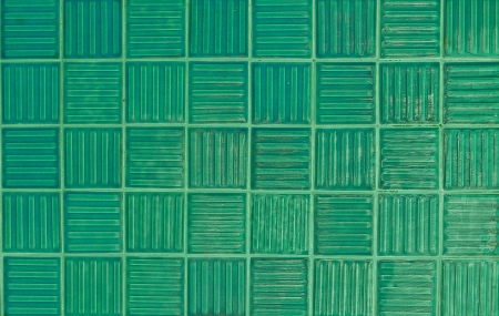 green tiles texture background photo